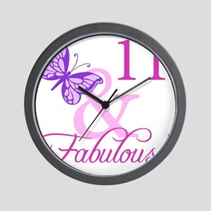Fabulous 11th Birthday For Girls Wall Clock