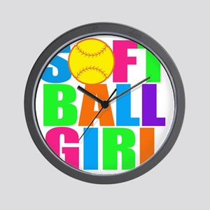 softball girl Wall Clock