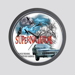SUPERNATURAL 1967 chevrolet impala Driv Wall Clock