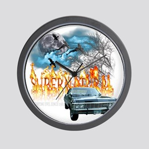 SUPERNATURAL 1967 chevrolet impala hunt Wall Clock