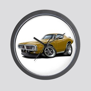 1973-74 Charger Gold Car Wall Clock