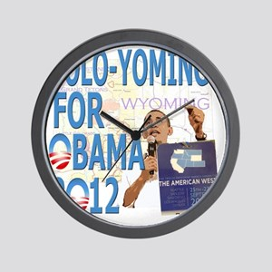 Coloyoming O v2 template Wall Clock