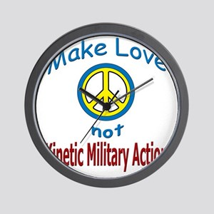 Kinetic Military Action template 032411 Wall Clock