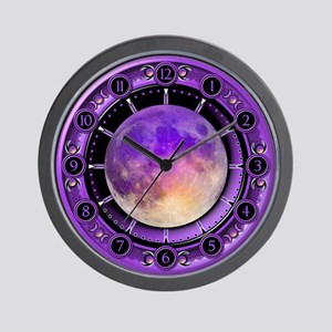 Clock of the Purple Moon Wall Clock
