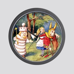 Alice THE WHITE KING_SQ Wall Clock