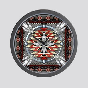 Native American Tapestry 04 Wall Clock