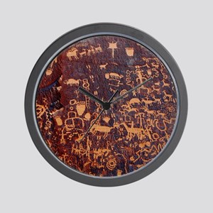Newspaper Rock Wide FINAL Wall Clock