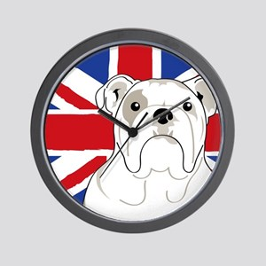 Bulldog Square English Flag Wall Clock
