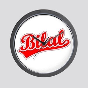 Retro Bilal (Red) Wall Clock