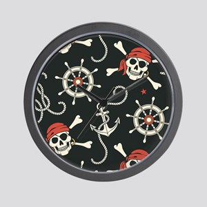 Pirate Skulls Wall Clock