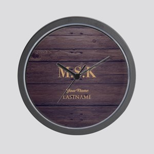 Rustic Barn Wood Personalized Wall Clock