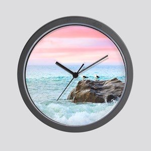 Seagulls at Sunrise Wall Clock