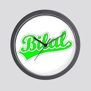 Retro Bilal (Green) Wall Clock