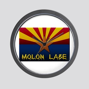 Arizona Flag Molon Labe Wall Clock