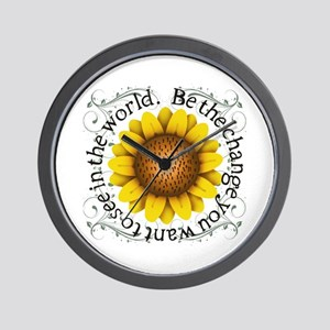 Be the change you want to see in the wo Wall Clock