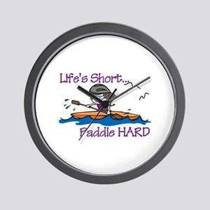 Paddle Hard Wall Clock