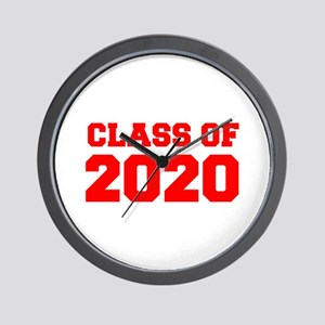 CLASS OF 2020-Fre red 300 Wall Clock