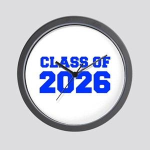 CLASS OF 2026-Fre blue 300 Wall Clock