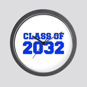 CLASS OF 2032-Fre blue 300 Wall Clock