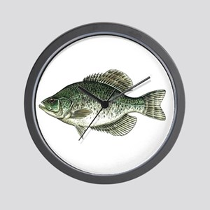 Black Crappie Fish Wall Clock