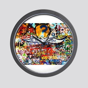All Love is Free Graffiti Wall Clock