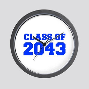 CLASS OF 2043-Fre blue 300 Wall Clock