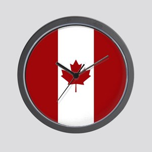 Canada: Canadian Flag (Red & White) Wall Clock
