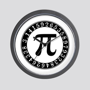 Pi symbol circle Wall Clock