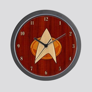 STARTREK TNG WOOD 1 Wall Clock
