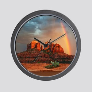 Rainbow In Grand Canyon Wall Clock