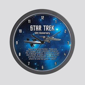 50TH FINAL FRONTIER Wall Clock