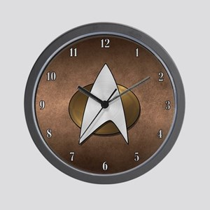 STARTREK TNG METAL 3 Wall Clock