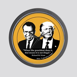 Not Illegal Presidents Wall Clock