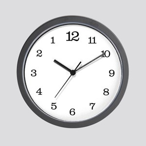 Backwards Classic Wall Clock