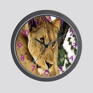 Lion Thinking Time! Wall Clock