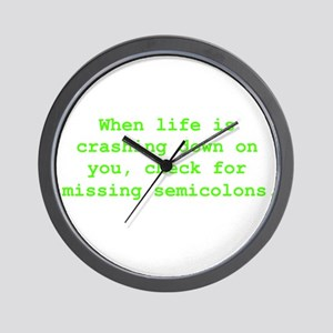Check for missing semicolons Wall Clock