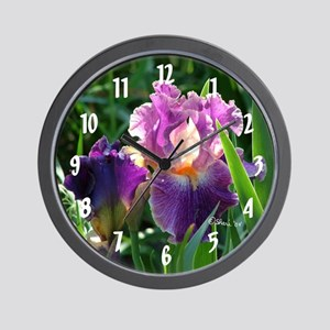 0459 Purple Iris Wall Clock