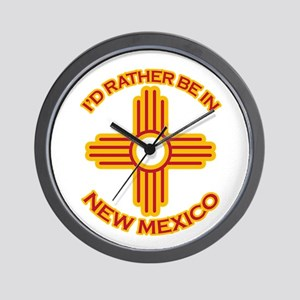 I'd Rather Be In New Mexico Wall Clock
