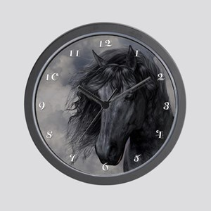 Black Horse Wall Clock