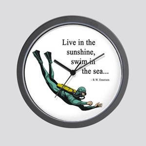 Sea Scuba Diver Wall Clock