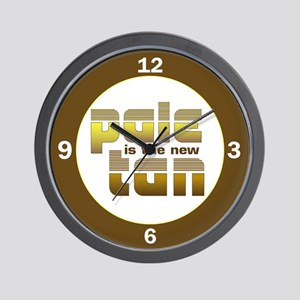 Pale is the New Tan Wall Clock