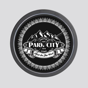 Park City Mountain Emblem Wall Clock
