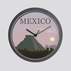 Vintage Mexico Sunset Wall Clock