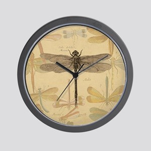 Dragonfly Vintage Wall Clock
