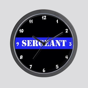 Police Sergeant Thin Blue Line Wall Clock