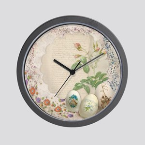 Easter Collage Wall Clock