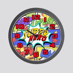 Superhero Comic Book Wall Clock
