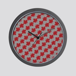 Canadian Maple Pattern Wall Clock