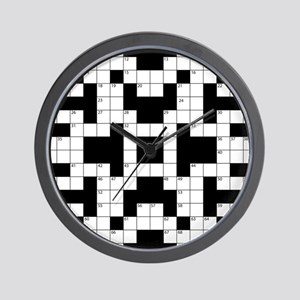 Crossword Pattern Decorative Wall Clock