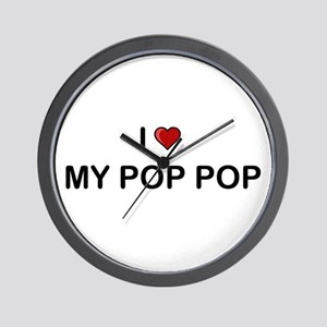 I Love My Pop Pop Wall Clock